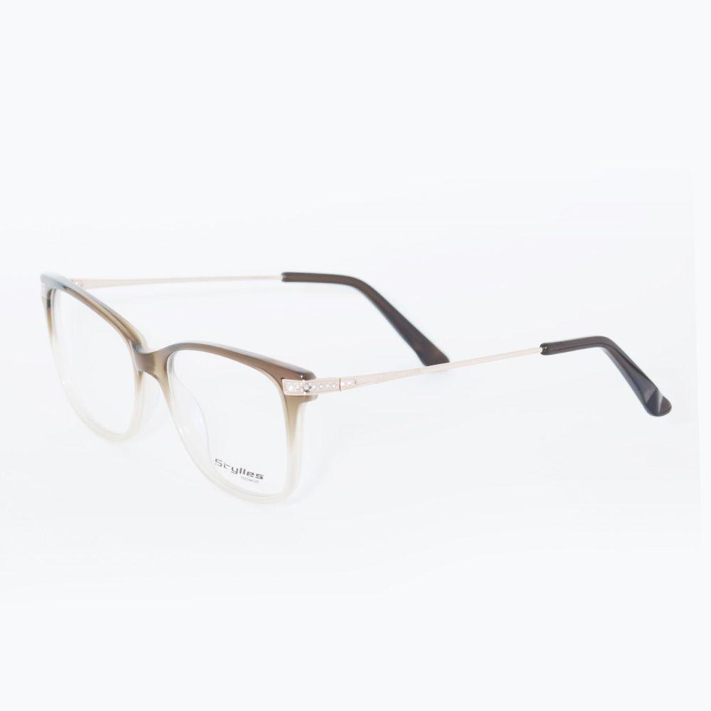 Óculos de Grau Stylles Marrom Degrade CO1 - 57