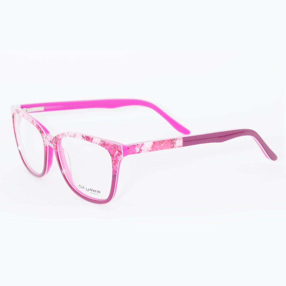 Óculos de Grau Stylles Rosa CO1 - 25