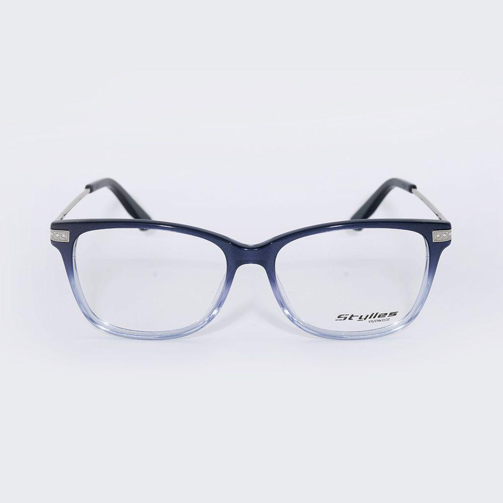 Óculos de Grau Stylles Degrade Azul CO1 - 57