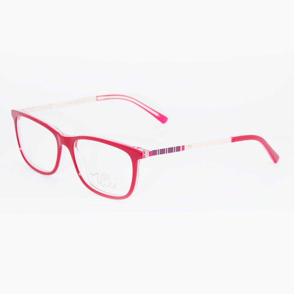 Óculos de Grau Vip Vermelho Brilhante MC3360