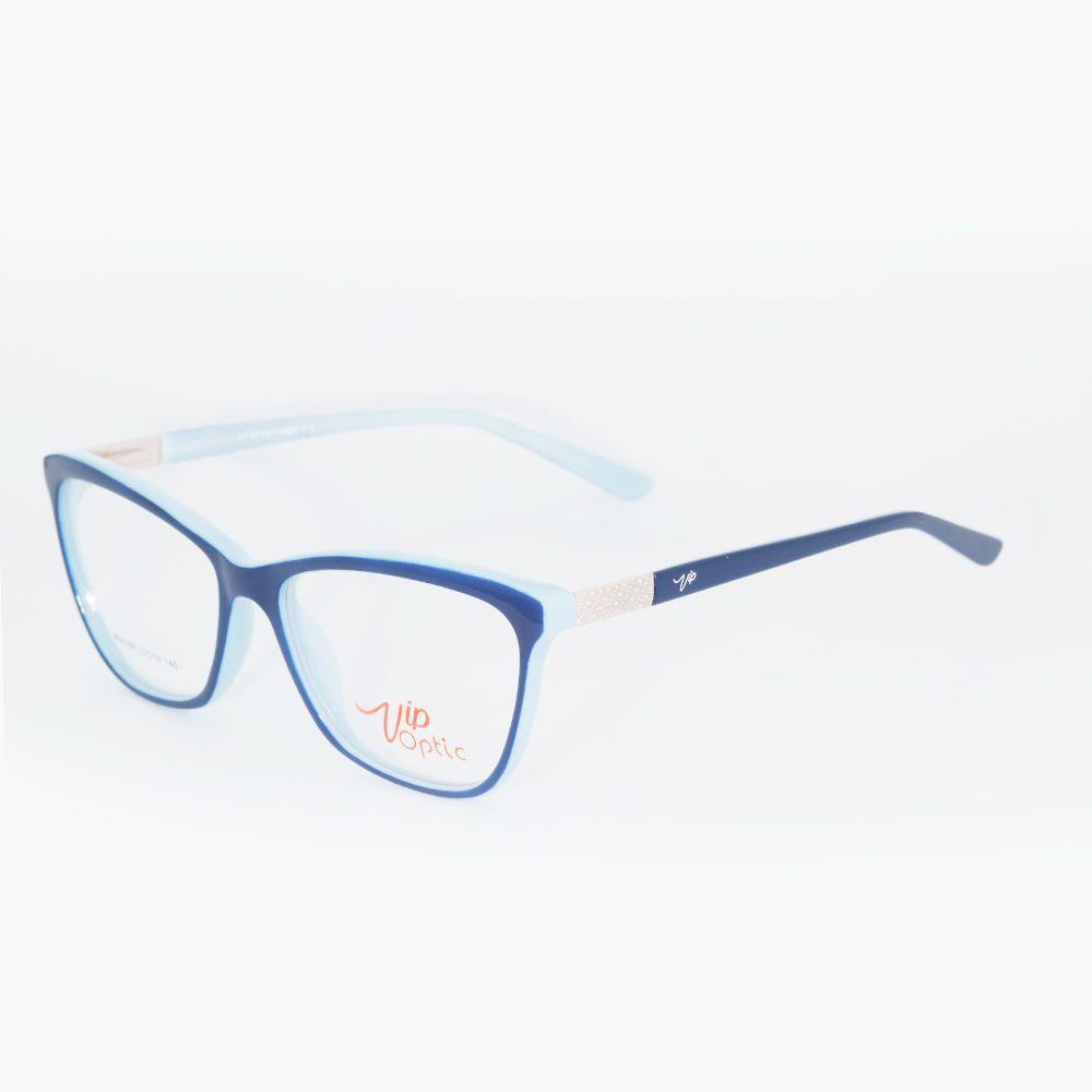 Óculos de Grau Vip Azul Brilhante 17-4156