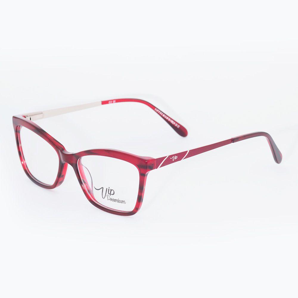 Óculos de Grau Vip Vermelho Queimado 18-1982/4
