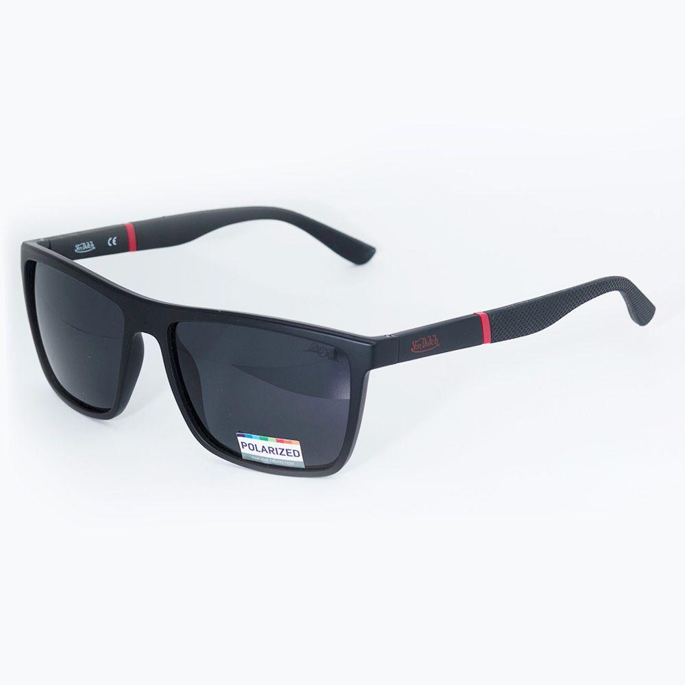 f590f010916dc ... Óculos de Sol Von Dutch Polarizado Preto Fosco 61301