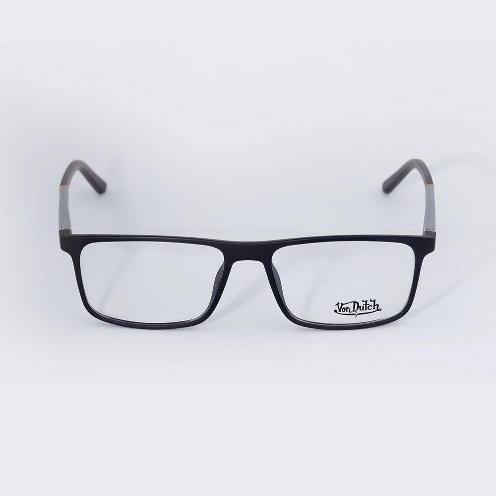 Óculos de Grau Von Ducth Preto Fosco 613434