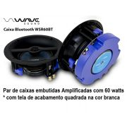 Kit Caixas de embutir ativa Bluetooth Wave Sound WSR60BT Tela Slim Quadrada  BRANCA 60 watts - Kit