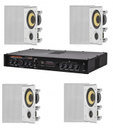 Kit Som Ambiente 400W Hayonik MS4000 e 4 caixas embutidas JBL Ci6R