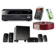 Kit Receiver Yamaha Rx-v385 + kit de caixas 5.1 JBL Cinema610 + cabos
