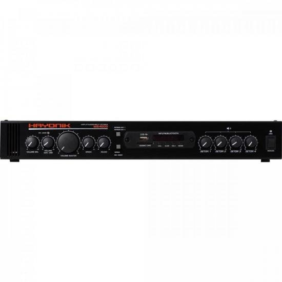 Amplificador HAYONIK 4 zonas MS4000 - bluetooth, FM, USB, SDcard - 400w