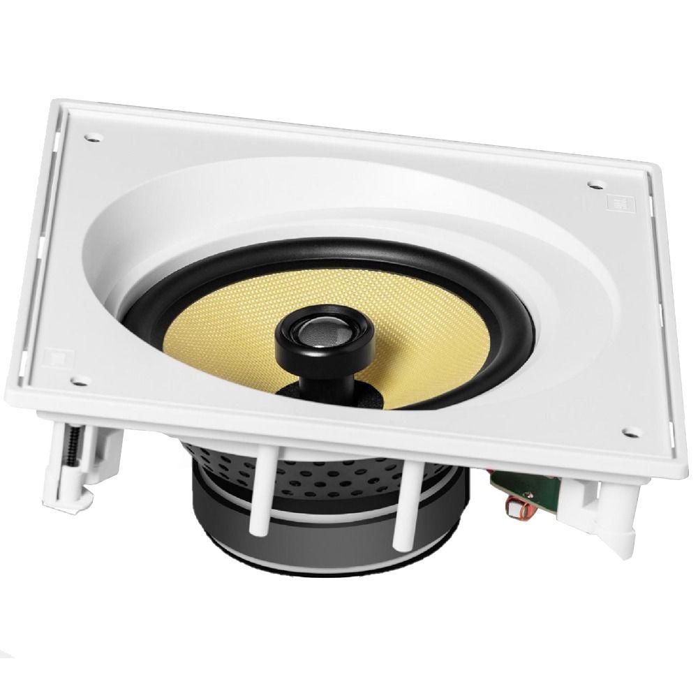 Caixa acústica de embutir para kit angulada JBL CI8SA com cone de Kevlar 8