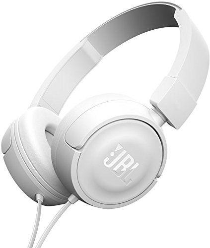 JBL T450 - Fone de ouvido on-ear com design leve, branco