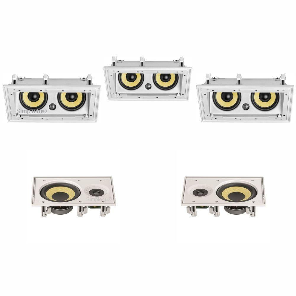 kit 3 caixas embutidas anguladas Ci55RA e 2 caixas embutidas retangulares Ci8R JBL