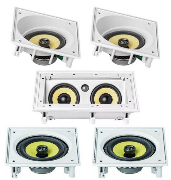 Kit 5.0 JBL - 1 Central CI55RA + 2 Frontais CI6SA + 2 Surrounds CI6S para home theater
