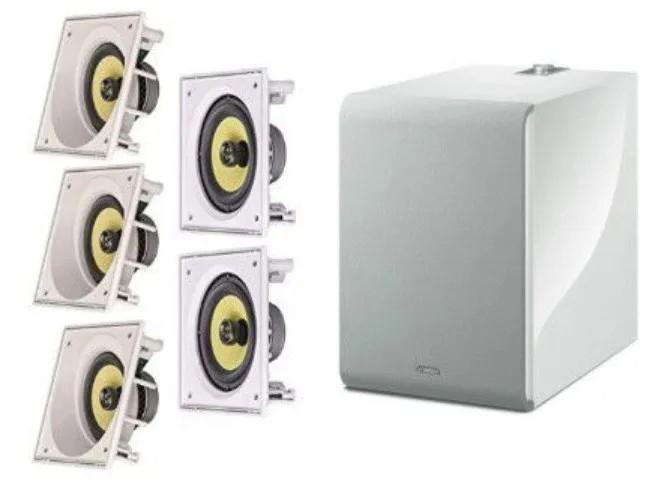 Kit 5.1 JBL + subwoofer - 3 Frontais embutidas JBL Ci6SA + 2 Surrounds Embutidas JBL Ci6s + SubNS-NSW100 Branco Musiccast