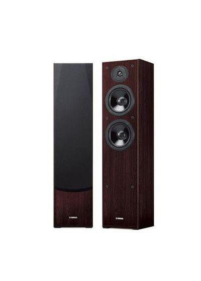 Yamaha NS-F51 - Par de caixas acústicas Torre para Home Theater - Walnut (nogueira)