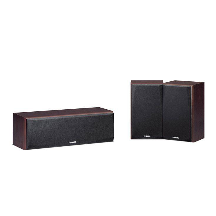 Yamaha NS-P51 - Conjunto com 3 caixas acústicas - 1 Central e 2 Surrounds - Walnut (nogueira)