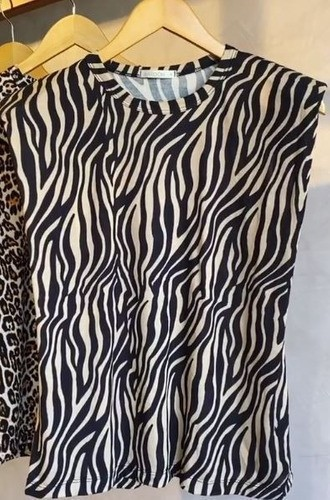 REGATA OMBREIRA ANIMAL ZEBRA MUSCLE TEE