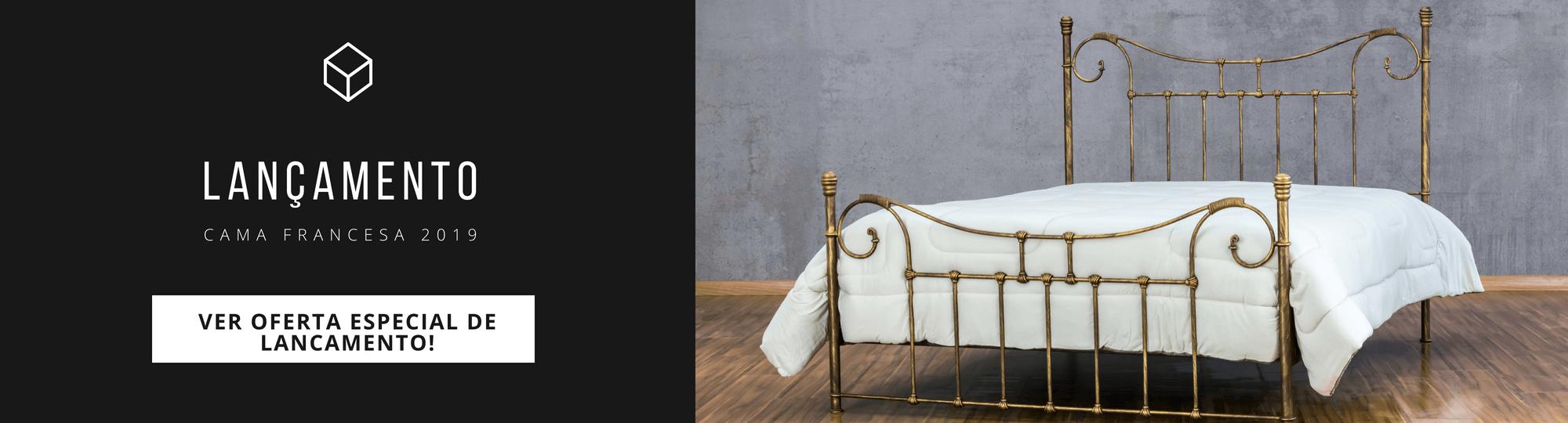 Lançamento cama de ferro francesa