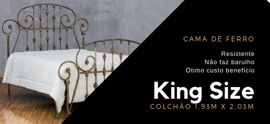 Cama de ferro King