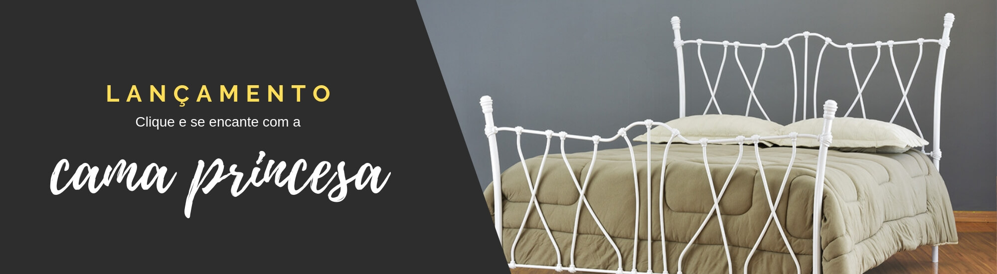 Lançamento de cama de ferro