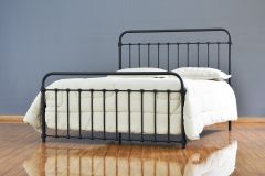 Cama de Ferro Patente Casal Comum - Preto fosco