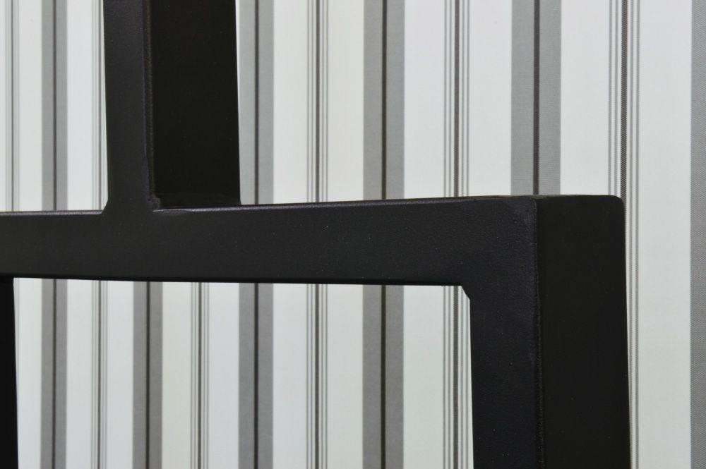 Cabeceira de Ferro Metalon Solteiro - Preto fosco