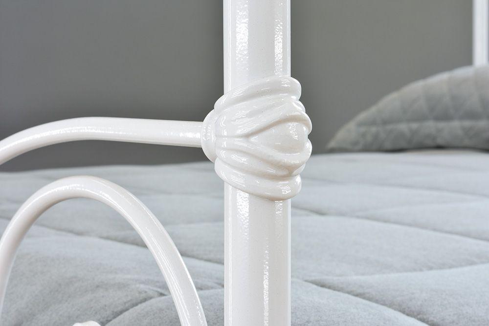 Cama de Ferro Francesa Casal Comum - Branca