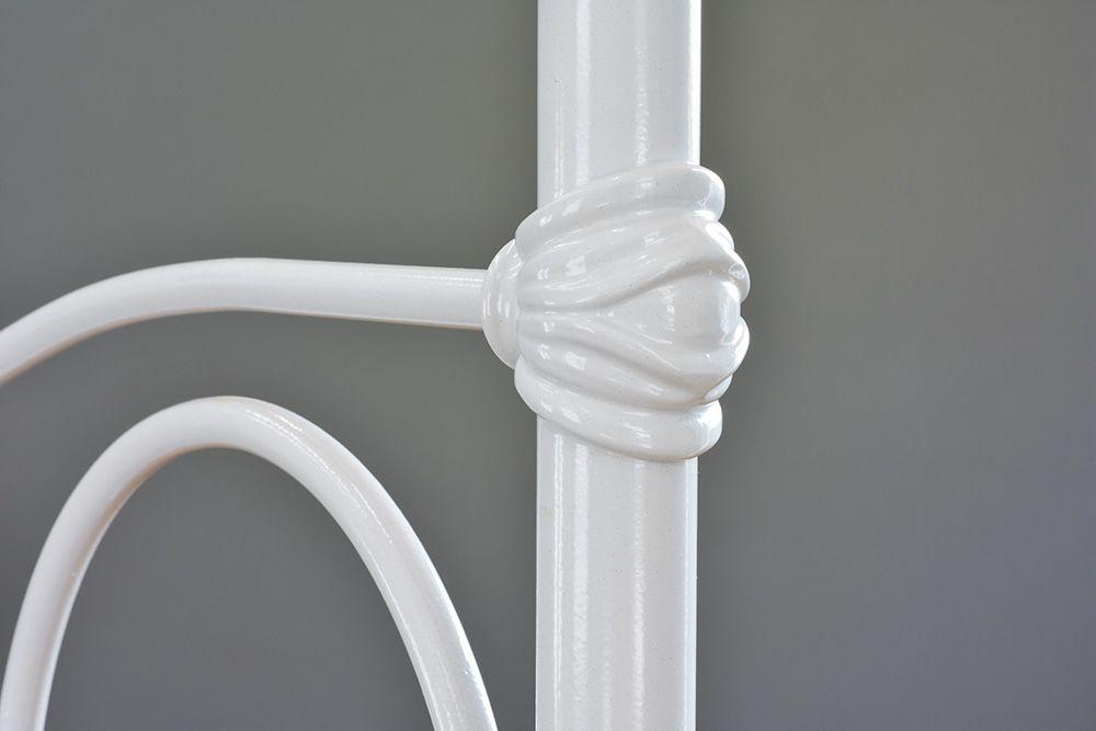 Cama de Ferro Francesa King Size - Sem desenho da peseira - Branca
