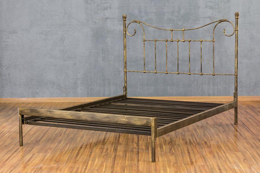 Cama de Ferro Francesa - Sem desenho da peseira - Casal Comum