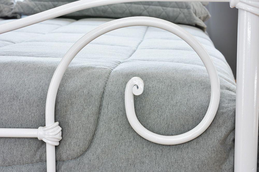 Cama de Ferro Francesa Viúva - Branca