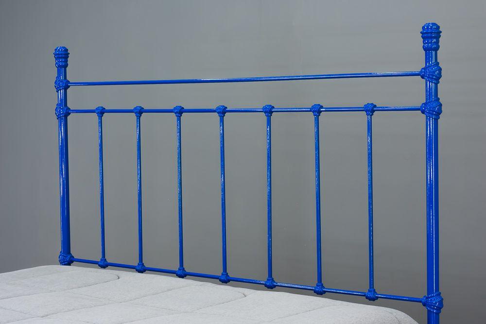 Cama de Ferro Luísa Casal Azul - Sem desenho da peseira