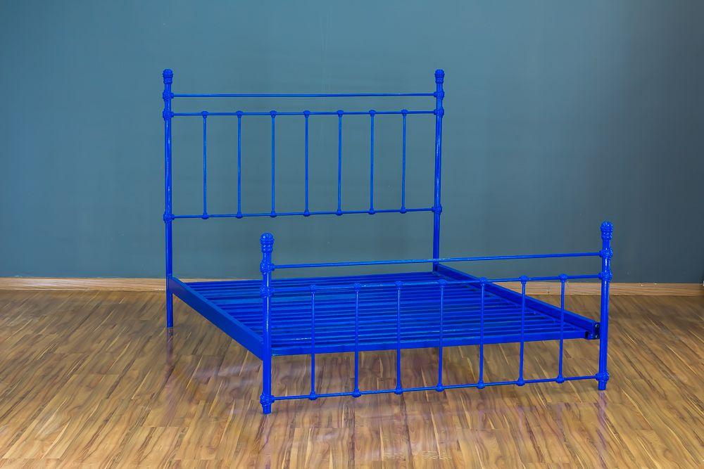 Cama de Ferro Luísa King Azul