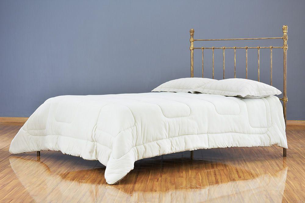 Cama de Ferro Luísa King - Sem desenho da peseira - Pátina Envelhecido