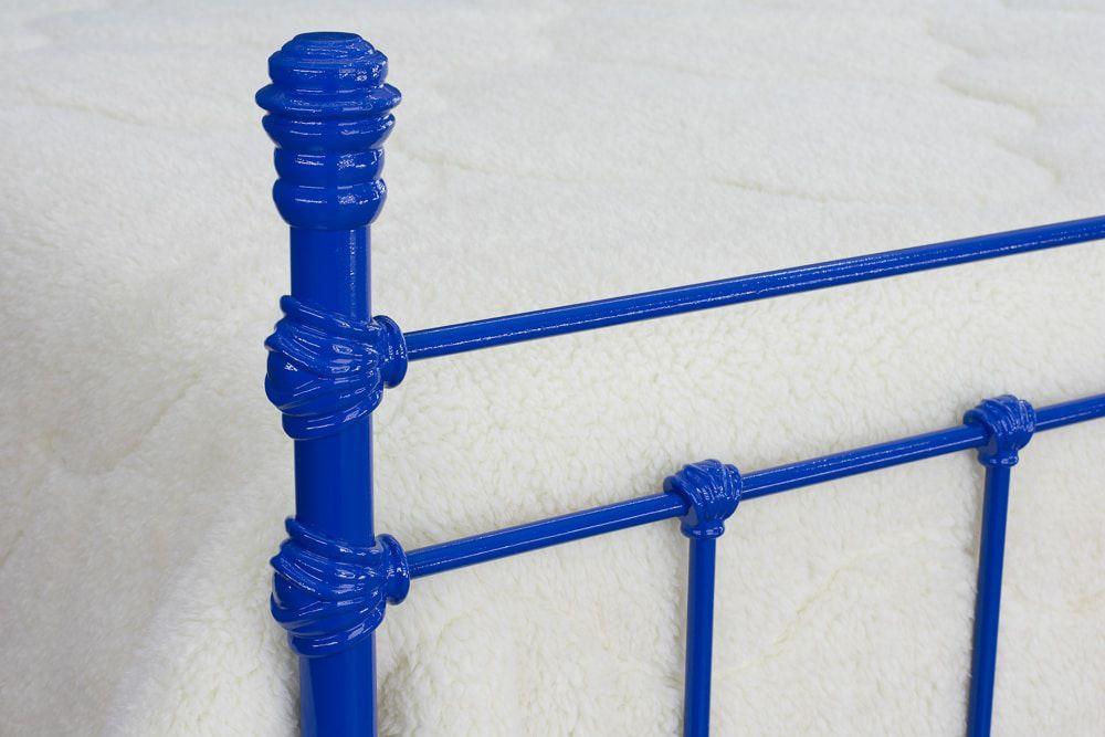 Cama de Ferro Luísa Queen Azul