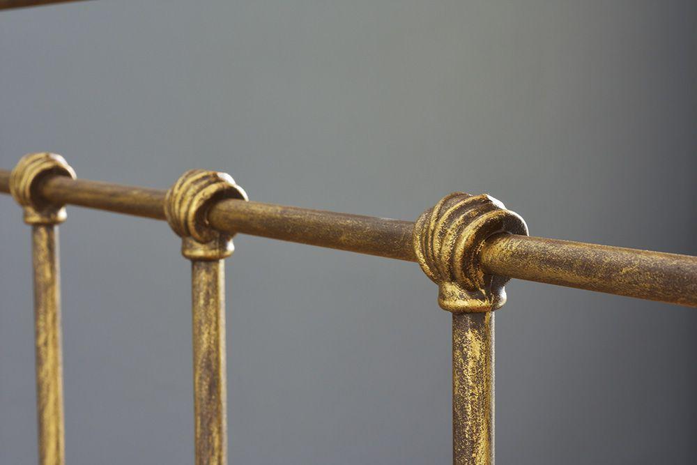 Cama de Ferro Luísa Solteiro - Sem Peseira - Pátina Envelhecido