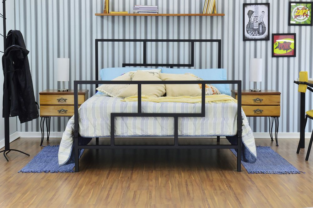 Cama de Ferro Metalon Queen Size
