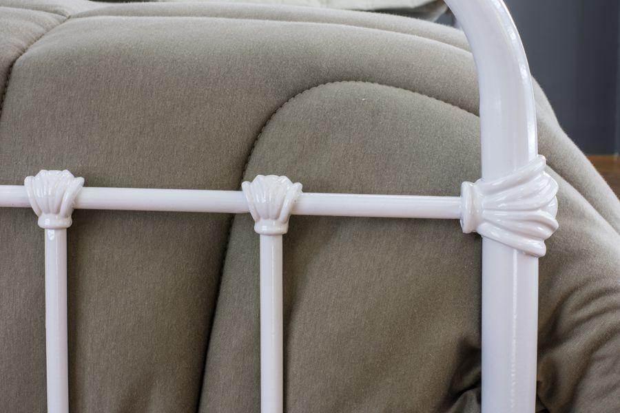 Cama de Ferro Patente Casal Comum Branca