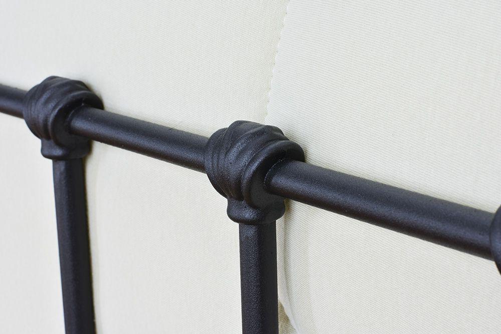 Cama de Ferro Patente King - Preto fosco