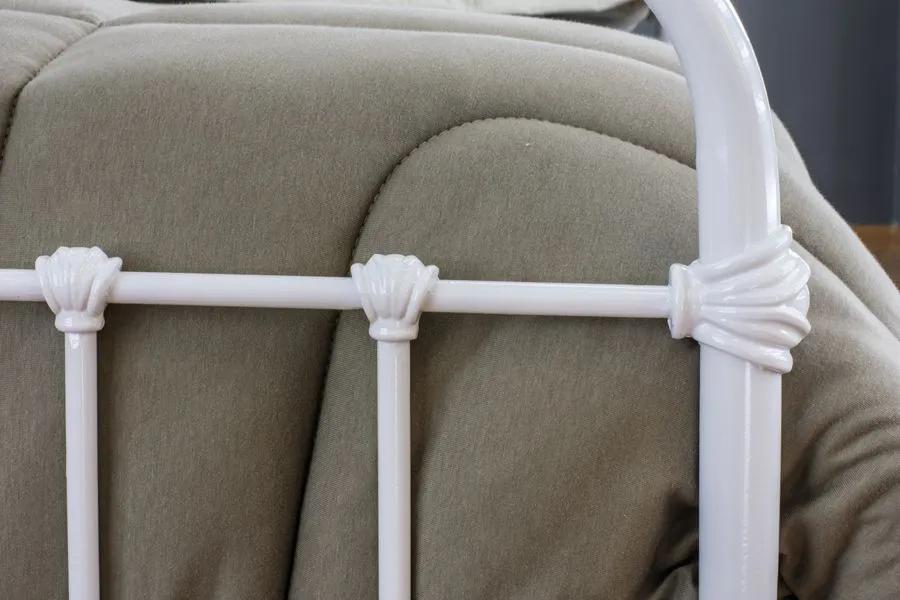 Cama de Ferro Patente Queen Branca