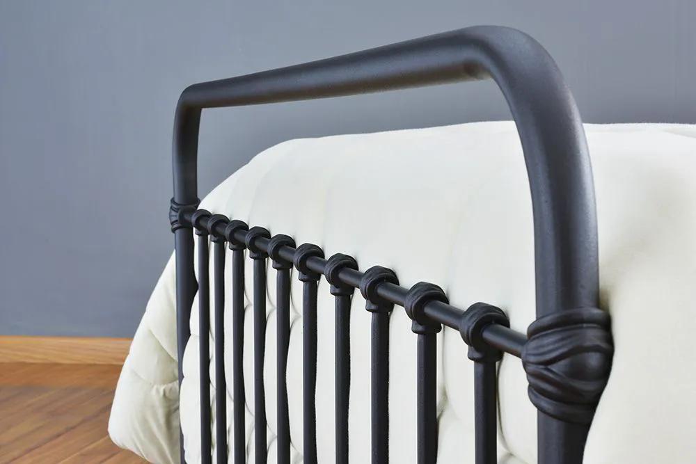 Cama de Ferro Patente Queen - Preto fosco