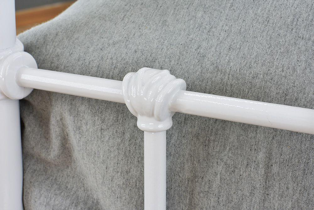 Cama de Ferro Patente Solteiro Branca