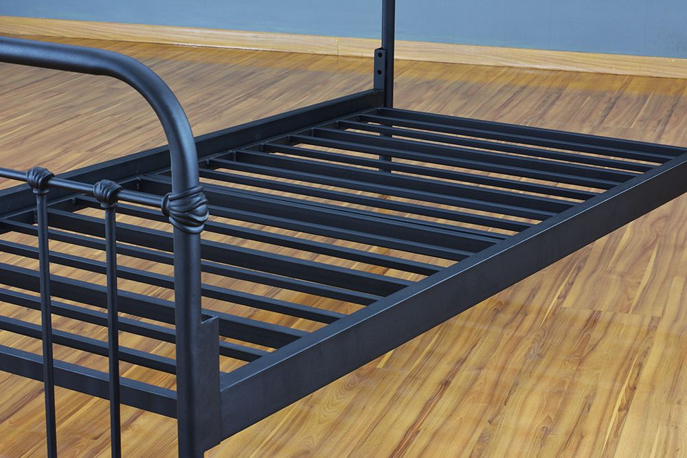 Cama de Ferro Patente Solteiro - Preto fosco