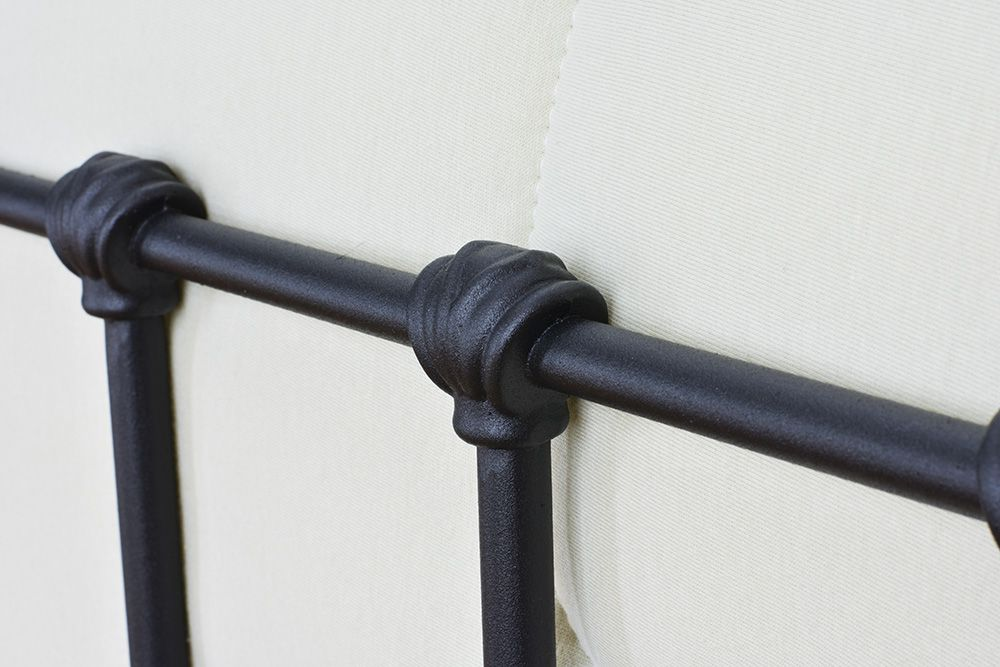 Cama de Ferro Patente Viuva - Preto fosco
