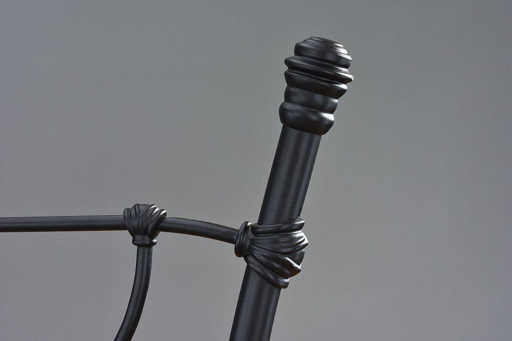 Cama de Ferro Princesa Solteiro - Preto fosco