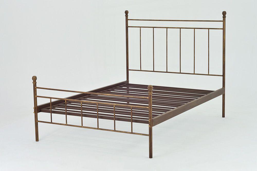 Cama de Ferro Romana - Casal - Peseira desenho da peseira mais alta