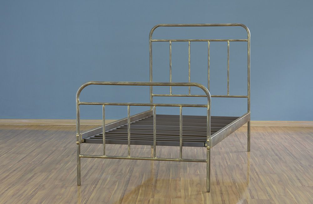 Cama de Ferro Solteiro Personalizada - Estilo Patente