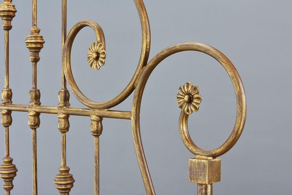 Cama de ferro Viúva Amor - Sem Peseira - Pátina envelhecido