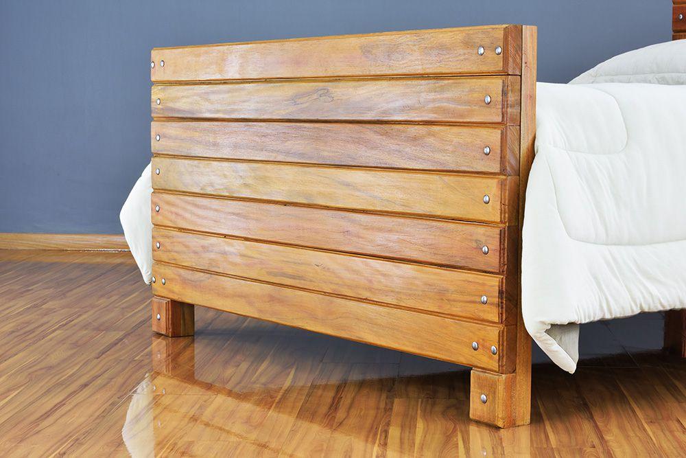 Cama de Madeira Maciça Wood - Casal