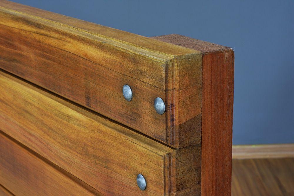 Cama de Madeira Maciça Wood - Queen - Sem Peseira