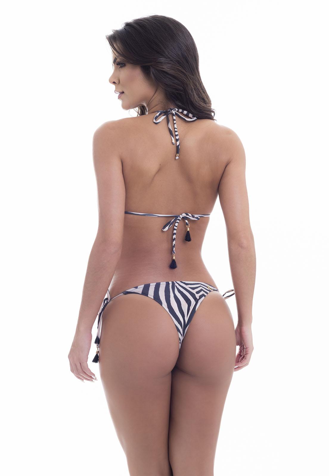 Biquíni Cortininha Zebra