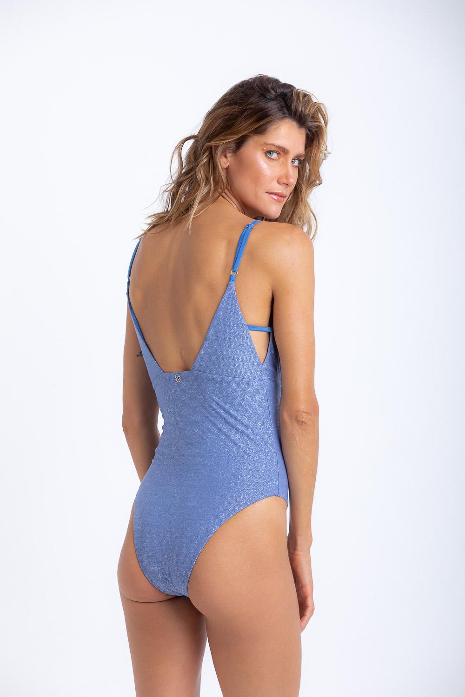 Maiô Elisa Lurex Jeans